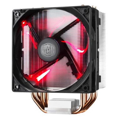 Cooler Master Hyper 212 LED Processor 12 cm Black, Metallic, Red