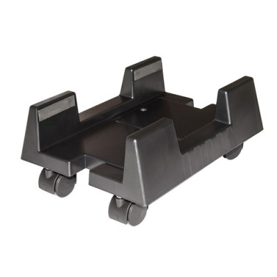 CARRELLO PORTA PC LINK con ruote bloccabili, regolabile in larghezza da 15 a 24,5 cm Colore Nero