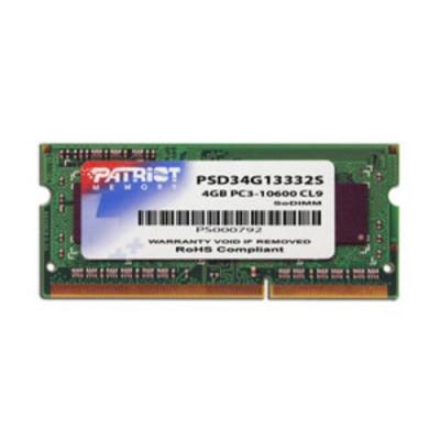 DDR3 x NB SO-DIMM PATRIOT 4GB 1333MHz  - PSD34G13332S