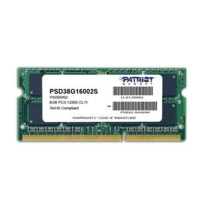 DDR3 x NB SO-DIMM PATRIOT 8GB 1600MHz  - PSD38G16002S