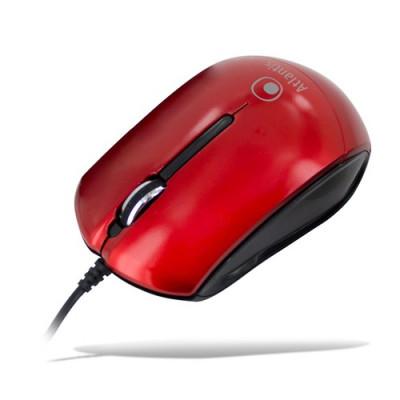 MINI MOUSE ATLANTIS P009-KM23-RD SCROLL USB 3 tasti 800-1000 dpi, Red