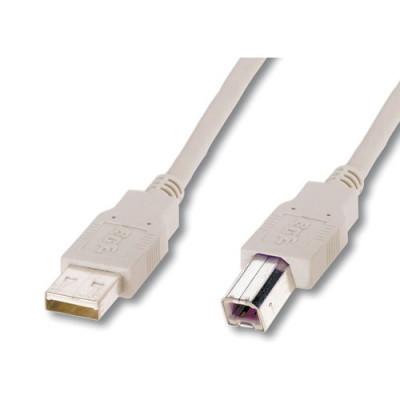 CAVO DIGITUS USB 2.0 A-B M-M 1,8MT in RAME Colore GRIGIO