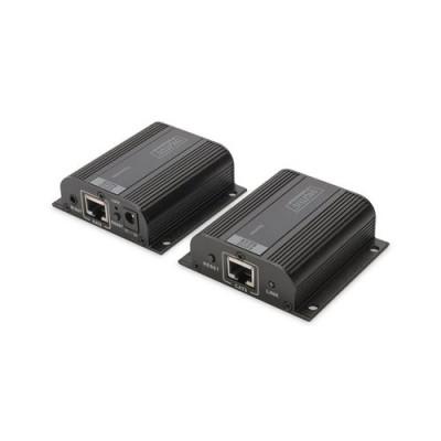 EXTENDER HDMI DIGITUS CON CAVO DI RETE FINO A 50 METRI (1080P) Funziona anche con cavo di rete CAT 6, CAT 6A e CAT 7