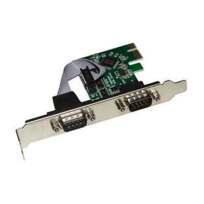SCHEDA LINK LKROS03 PCI EXPRESS CON 2 PORTE SERIALI 9 POLI CON STAFFA NORMALE E LOW PROFILE