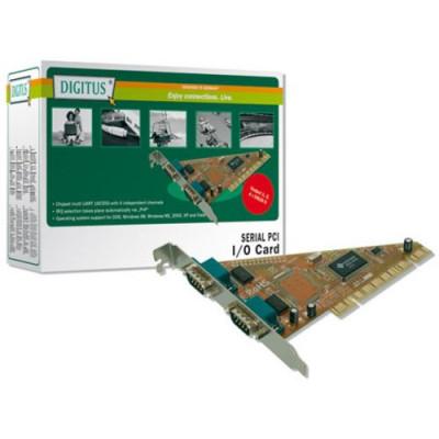 SCHEDA DIGITUS PCI 9 POLI MASCHIO 2 PORTE SERIALI RS232