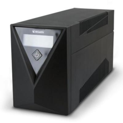 UPS ATLANTIS A03-S100 800VA (400W) One Power Stepwave Line Interactive,V-OUT 190-245Vac. AVR (3 step). USB 1xIEC + 1xSchuko