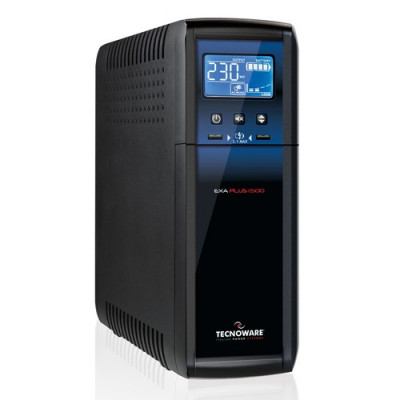 UPS TECNOWARE EXA PLUS 1500 1500VA/1050W Tecnologia Line Interactive Plus Sinusoidale con sistema Silent FGCEXAPL1500*CASH BACK*