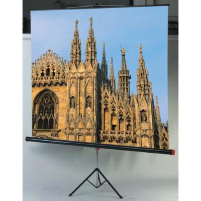 SCHERMO PROIEZIONE SOPAR A CAVALLETTO 180x180cm 1:1 Tela Bianca Lentic. c/Tenditore Modello Junior