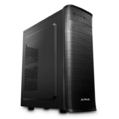"CASE ATLANTIS M.TOWER ARIA C177 WL01-C177 1x5.25"" 3(4)x3.5"" 2(1)x2.5"" 2xUSB3.0 **INC. ANTIV. ATL** NO ALIM. BLACK/BLACK"