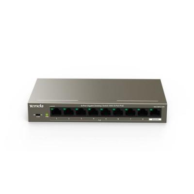 SWITCH TENDA TEG1109P-8-102W 9P LAN GIGABIT DESKTOP 10/100/1000M 8P POE