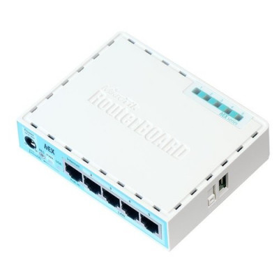 ROUTERBOARD MIKROTIK RB750Gr3 hEX with Dual Core 880MHz MHz CPU,256MB RAM,5Gigabit LAN ports, USB,RouterOS L4,plastic case,PSU