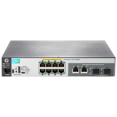 SWITCH HP ARUBA JL070A 2530-8-POE+ 8X10/100 POE+ (67W) + 2X COMBINAZIONE GIGABIT ETHERNET/GIGABIT SFP RACK 1U GAR A VITA