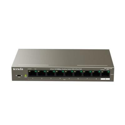 SWITCH TENDA TEF1109P-8-102W 9P LAN DESKTOP 10/100M 8P POE