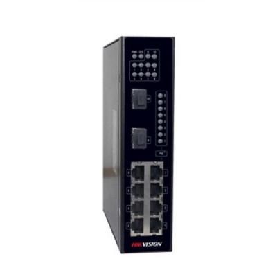 SWITCH HIKVISION INDUSTRIALE Unmanaged, 8 PORTE 10/100M PoE + 2 1000M SFP uplink, 802.3af/at ALIM. NON INCLUSO- DS-3T0310P