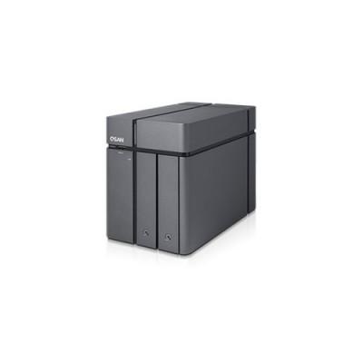 QSAN Xcube NAS Tower 2 +1 Bay with Intel Celeron 1.1 GHz Quad-Core CPU, 4GB DDR3L RAM (Max 8GB) - XN3002T