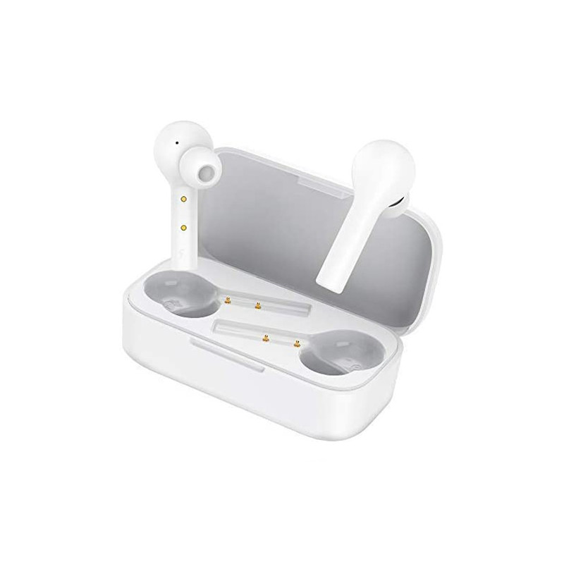 HOMSCAM T5 TW White Bluetooth Headphones Wireless with Hi-Fi Stereo Charging Case Mini Headphones for Samsung iPhone Huawei Xiao