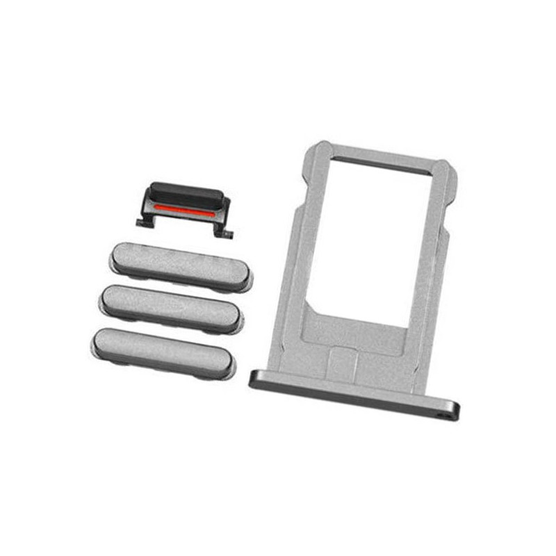 iPhone 6S Space Gray Case Button Set + SIM Card Tray