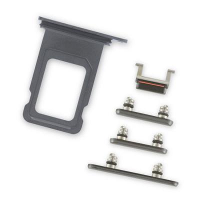 iPhone XS Max Black Case Button Set + SIM Card Tray