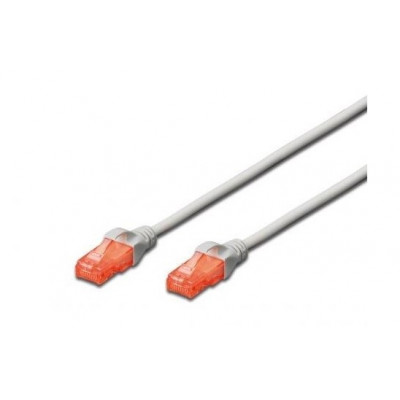 Network Cable 15m Gray Cat.6 Unshielded