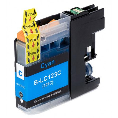 Cartridge compatible with Brother LC-123 Cyan