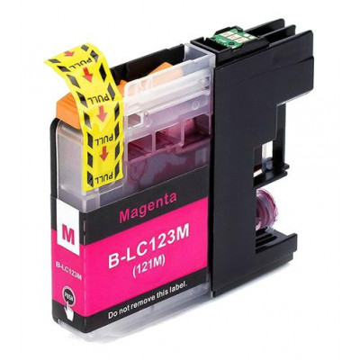 Cartridge compatible with Brother LC-123 Magenta