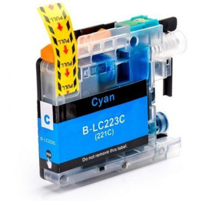 Cartridge compatible with Brother LC-223 Cyan