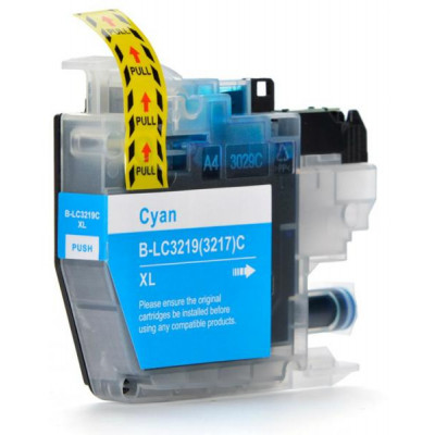 Cartridge compatible with Brother LC-3219 XL Cyan