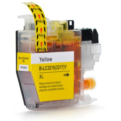 Cartridge compatible with Brother LC-3219 XL Yellow
