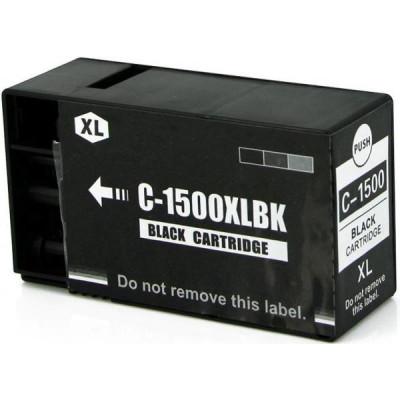 Cartridge compatible with Canon PGI-1500XL Black