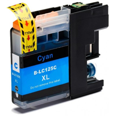Cartridge compatible with Brother LC-125 XL Cyan