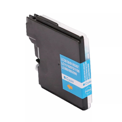 Cartridge compatible with Brother LC-980/1100 Cyan