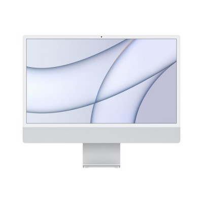 """ALL IN ONE APPLE iMac MGPD3T/A (2021) 24"""" Retina 4.5K display: Apple M1chip with 8-core CPU and 8-core GPU 512GB Silver"""