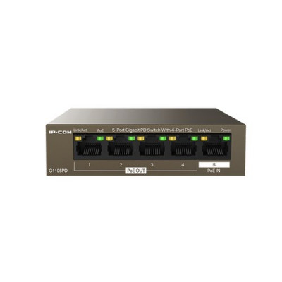 SWITCH IP-COM G1105PD 5P GIGABIT DESKTOP 10/100/1000M CON 4P PoE