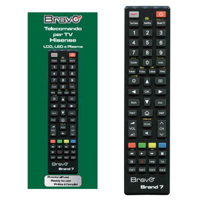 BRAVO Programmable Remote Control (FOR HI-SENSE TELEVISIONS)