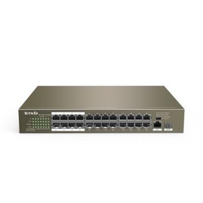 SWITCH TENDA TEF1126P-24-250W V2.0 24P 10/100 PoE +1P GIGABIT+1P SFP(combo)Rackmount Potenza PoE 250W