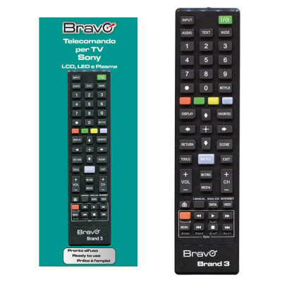 BRAVO Brand Sony Dedicated Remote Control