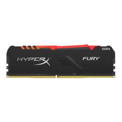 DDR4 KINGSTON 8Gb 3600Mhz - HYPERX FURY BLACK RGB - CL17 - HX436C17FB3A/8