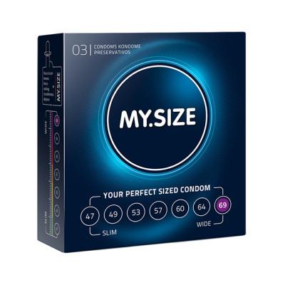MY.SIZE 69 mm Condoms x3 pcs