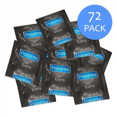 Pasante Extra Safe Condom Saver Bundle - 72 Pack
