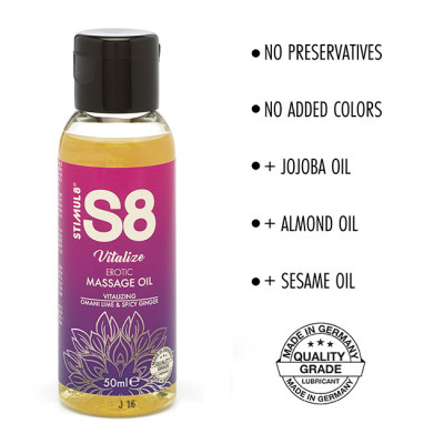 S8 Omani Lime & Spicy Ginger Massage Oil 50ml
