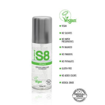 S8 Vegan Organic Lube 125ml