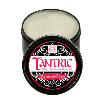 Tantric Massage Candle with Pheromones Pomegranate Ginger