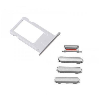 iPhone 6S Silver Case Button Set + SIM Card Tray