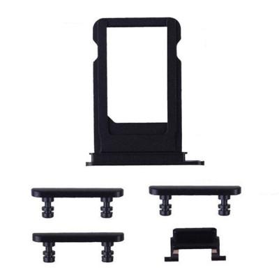 iPhone 7 Black Case Button Set + SIM Card Tray