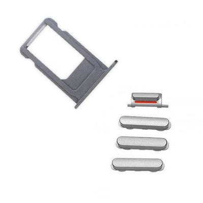 iPhone 7 Plus Black Case Button Set + SIM Card Tray
