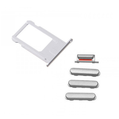 iPhone 7 Plus Silver Case Button Set + SIM Card Tray