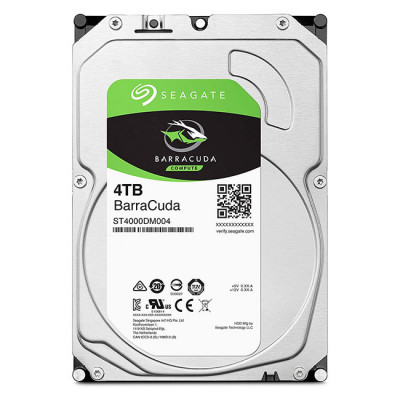4TB Seagate BarraCuda Internal Hard Drive HDD - 3.5 Inch SATA 6 Gb/s 5400 RPM 256MB Cache