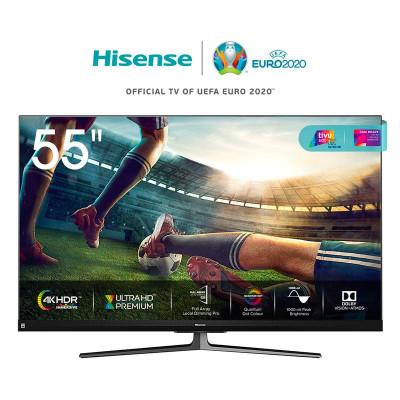 TV COLOR 55 HISENSE 55U8QF - ULED QUANTUM DOT 4K SmartTV WIFI DOLBY CERTIFIED TivùSAT ALEXA BUILT IN FULL ARRAY DIMMING PRO