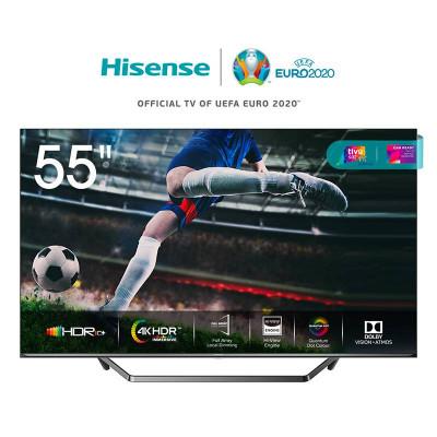 TV COLOR 55 HISENSE 55U7QF - ULED QUANTUM DOT 4K SmartTV WIFI DOLBY CERTIFIEDTivùSAT ALEXA BUILT IN FULL ARRAY DIMMING PRO