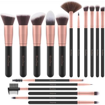 EmaxDesign Make Up Brushes 17 pcs Makeup Brush Set Powder Foundation Powder Crème Professional Liquid Eye Shadow and Eyebrow Fac